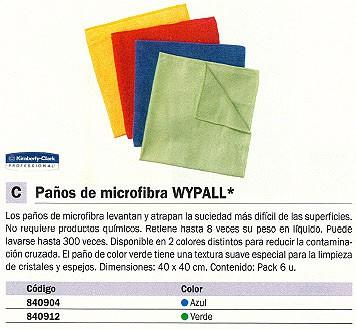 KIMBERLY-CLARK PAÑO DE MICROFIBRA WYPALL PACK 6UD 400X400MM AZUL 8395