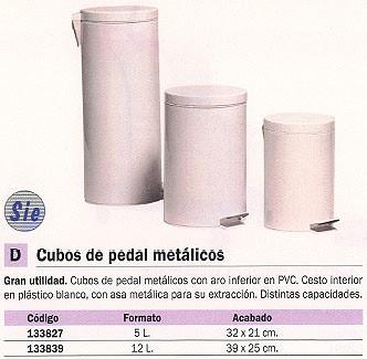 Cubos de basura NOVALINE PAPELERAS 39X25 12L BLANCA PEDAL 97