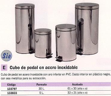Cubos de basura NOVALINE PAPELERAS 32X21 5L ACERO INOX PEDAL 96-I