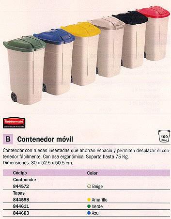 RUBBERMAID CONTENEDORES 800X525X505 75L BEIGE ASA RUEDAS 12901-382-71