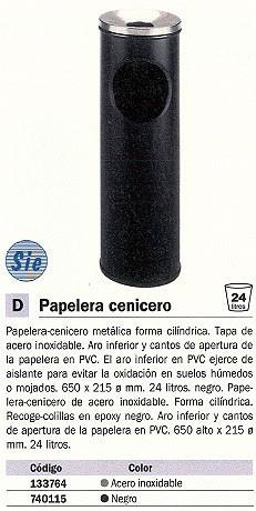 SIE CENICERO-PAPELERA METALICA PERFORADO NEGRO 24 LITROS 401-N