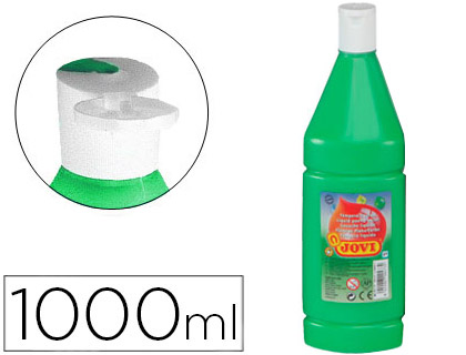 TEMPERA LIQUIDA JOVI ESCOLAR 1000 ML VERDE MEDIO