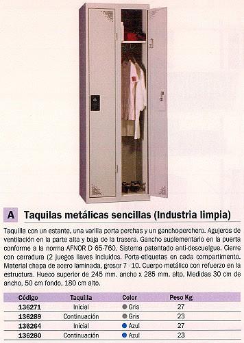 EVP TAQUILLA CONTINUACION METALICA INDUSTRILA SENCILLA GRIS WD105M1_G1G1
