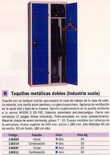 EVP TAQUILLA INDUSTRIAL SUCIA METALICAS DOBLES 400 X 500 1800 AZUL WD115M1_G1B1