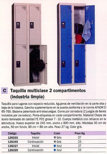 EVP TAQUILLA INICIAL 300X500X1800 GRIS WD234M1_G1G1. NUEVO SISTEMA DE CIERRE CANDADO (NO INCLUIDO)