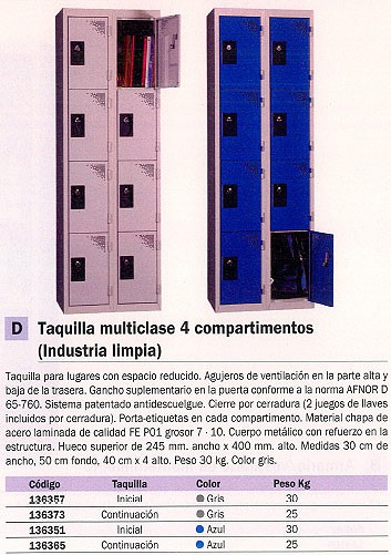 EVP TAQUILLA MULTICLASE INICIAL 300X500X1800 MM AZUL WD434M1_G1B1