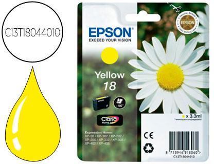 Cartucho de Tinta Amarillo Claria Home Epson 18 - (T1804)