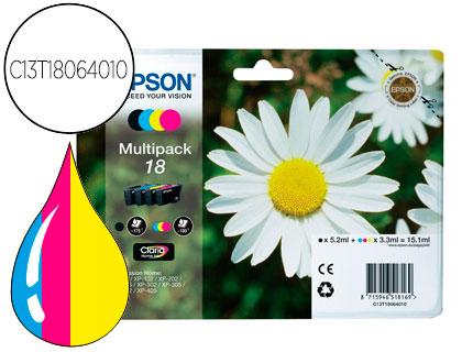 CARTUCHO DE TINTA NEGRO-TRICOLOR CLARIA HOME PACK 4 EPSON 18 - (T1806)
