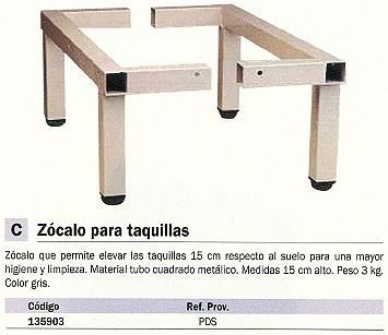 EVP ZÓCALO PARA TAQUILLA ELEVA TAQUILLAS 150 MM GRIS PDS_G1