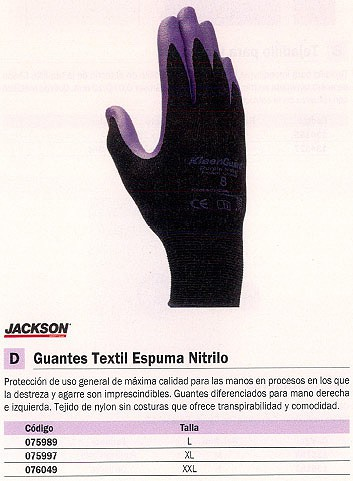 KIMBERLY CLARK GUANTES ESPUMA NITRILO TALLA L 4022740227