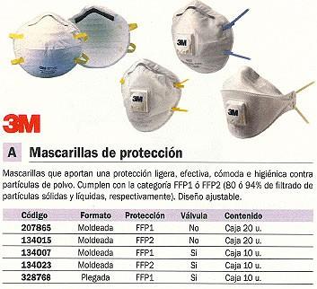 3M MASCARILLAS DE PROTECCION 10 UD FFP2 CON VALVULA GT500075202