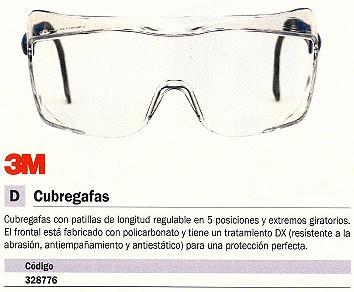3M CUBREGAFAS REGULABLE 5 POSICIONES DE272944658