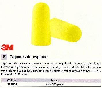 3M TAPONES OIDOS 250 UD ATENUACIÓN 36DB XA007701999