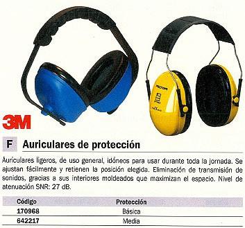 3M AURICULARES DE PROTECCION BÁSICA ATENUACIÓN 27DB GT600000944