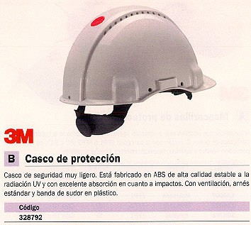 3M CASCO DE PROTECCION ARNÉS ESTÁNDAR XH001674759