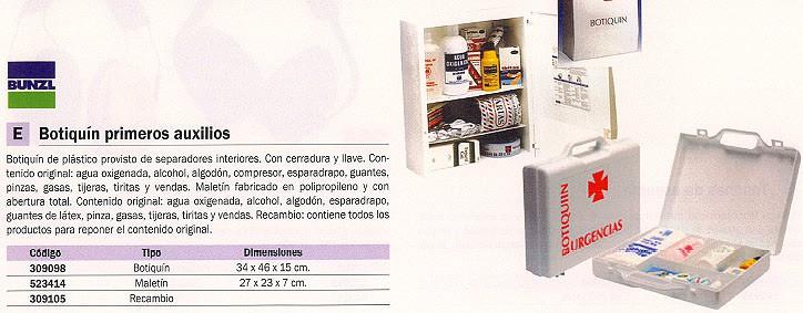 BUNZL MALETIN PRIMEROS AUXILIOS 27X23X7 CM PROLIPROPILENO 15749