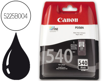 CARTUCHO DE TINTA NEGRO BLISTER CANON PG540 para Pixma MG 3150