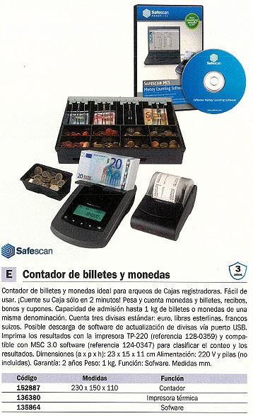 SAFESCAN IMPRESORA TERMICA MODELOTP-230 PARA DETECTOR/CONTADOR MODELO SS6155/6185//2665 REF. 134-0475