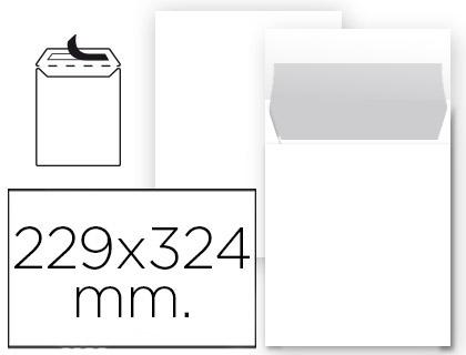 Sobres bolsas de papel LIDERPAPEL BOLSA N 8 BLANCO DIN 229X324 MM TIRA DE SILICONA PAQUETE DE 25 UNIDADES