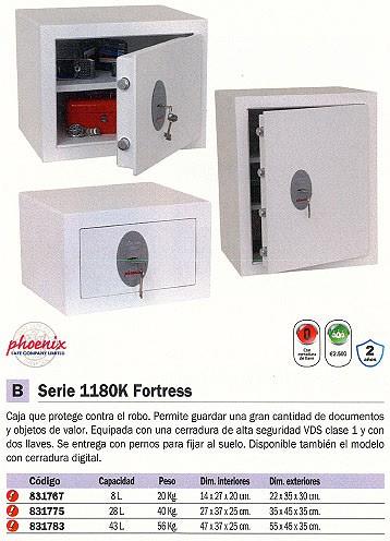 PHOENIX CAJA FUERTE SERIE SS1180K FORTRESSII CAPACIDAD43L REF.SS183K/E