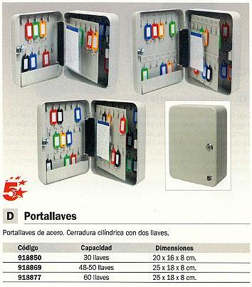 5 ESTRELLAS PORTALLAVES 200X160X80MM CAPACIDAD 30 LLAVES