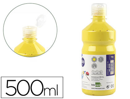 TEMPERA LIQUIDA LIDERPAPEL ESCOLAR 500 ML AMARILLO