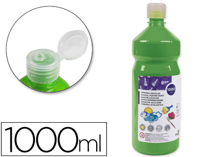 TEMPERA LIQUIDA LIDERPAPEL ESCOLAR 1000 ML VERDE