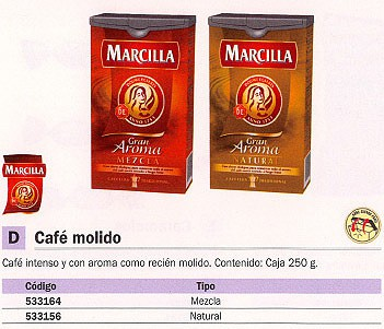 MARCILLA CAFÉ GRAN AROMA 250 G. MEZCLA L0414