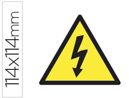 Pictogramas de señalizacion ENVASE DE 10 UNIDADES APLI ETIQUETA ADHESIVA APLI DE SEÑALIZACION SIMBOLO ALTA TENSION 114X114 MM