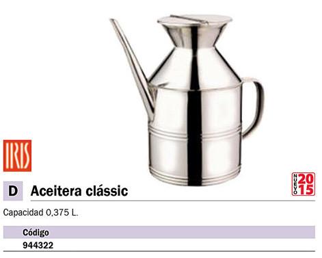 Catering IRIS ACEITERA CLASIC DE ACERO INOXIDABLE. 0,375 L. REF. 2988-I