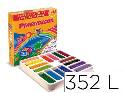 PLASTIDECOR ESTUCHE 352 UD COLORES SURTIDOS ESPECIAL ESCUELAS DIV COLORES 841719
