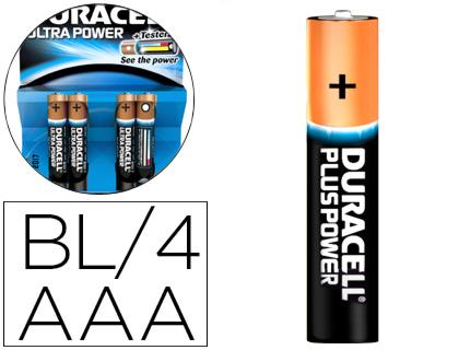 Pilas alcalinas PILA DURACELL ALCALINA ULTRA POWER AAA BLISTER DE 4 UNIDADES