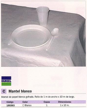 BUNZL MANTEL BLANCO 1X10M ROLLO 15867
