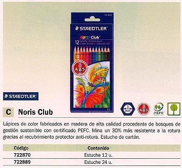 STAEDTLER LAPICES COLORES NORIS CLUB ESTUCHE 12 UD COLORES SURTIDOS ACUARELABLES 144 NC12