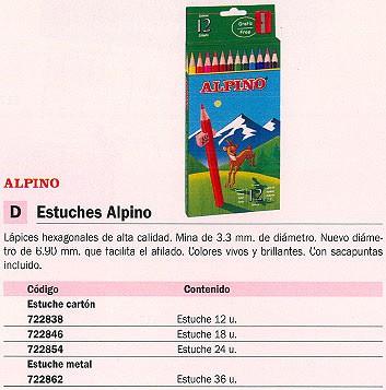 ALPINO ESTUCHE LAPICES ALPINO COLORES SURTIDOS 24 UD SACAPUNTAS INCLUIDO AL010658