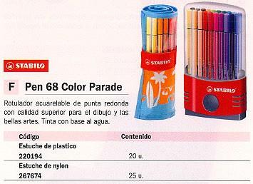 STABILO ROTULADORES PARADE ESTUCHE 20 UD COLORES SURTIDOS 6820-03