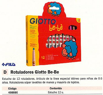 FILA ESTUCHES ROTULADORES GIOTTO BE BE 12 UD COLORES SURTIDOS 466700