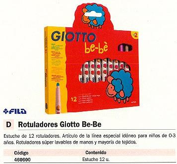 FILA ESTUCHES ROTULADORES GIOTTO BE-BE 12 UD COLORES SURTIDOS 466700