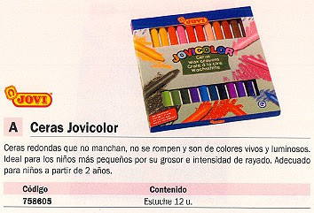CERAS JOVICOLOR CAJA 12 UD REDONDAS 980/12