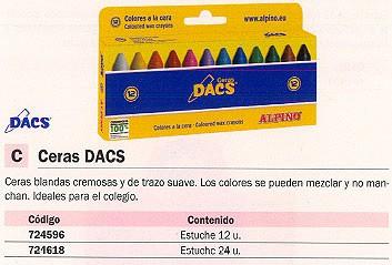 ESTUCHE CERAS DACS COLORES SURTIDOS 24 UD DA050295