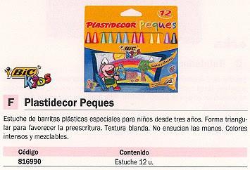 PLASTIDECOR ESTUCHE 12 UD COLORES SURTIDOS TRIANGULARES 875774
