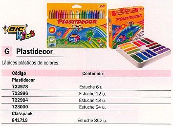 BIC PLASTIDECOR ESTUCHE 18 UD COLORES SURTIDOS SOBRE PAPEL SATINADO 875771
