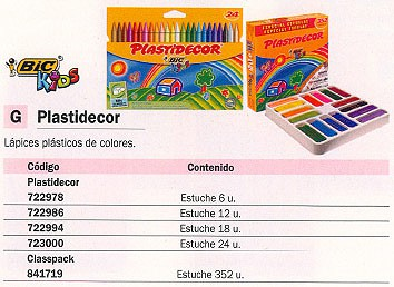 BIC PLASTIDECOR ESTUCHE 24 UD COLORES SURTIDOS 920301