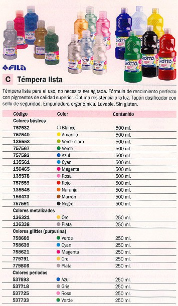 FILA TEMPERAS 250ML VERDE 531303