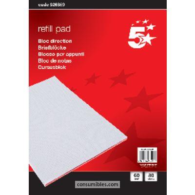 ENVASE DE 10 UNIDADES 5 STAR BLOC NOTAS 80H 8º LISO 605323