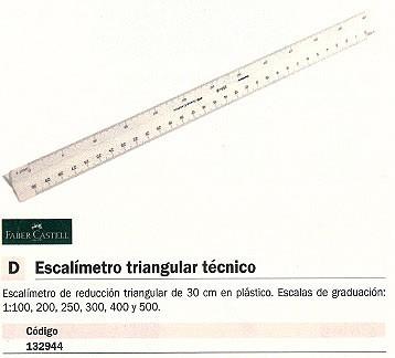 FABER CASTELL ESCALÍMETRO TRIANGULAR TÉCNICO 30CM PLASTICO 176152