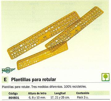 FAIBO PLANTILLAS PARA ROTULAR PACK 3 UD 6/8/10 MM 260