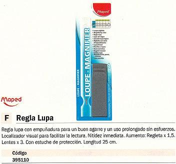 MAPED REGLA 25 CM CON LUPA 395110