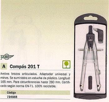 FAIBO COMPASES 165 MM BRAZOS ARTICULADOS ADAPTADOR Y CAJA MINAS 201T