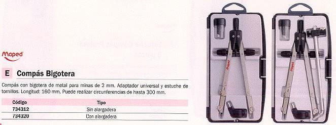 MAPED COMPASES 160 MM MINAS 2 MM CON ALARGADERA 28025